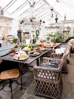 Feast in the orangery
