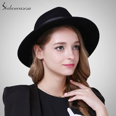 Fedora Hat Female Winter Autumn England Wool Felt Hat Wide Brim vintage with Black Jazz Hat Woman Do you want it fashion Supernatural Style Fashion 2017, Couture Fashion, Latest Fashion Trends, Fashion Beauty, Womens Fashion, Fashion Hats, Fashion Brands, All About Fashion, Passion For Fashion