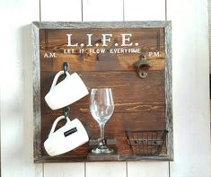 LIFE (Let It Flow Everytime) Design Coffee and Beer Sign Beer by UrbanAlloy