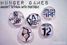 Simple magnet craft with Hunger Games printable included. Perfect for classroom activity or a group of teens at a party.