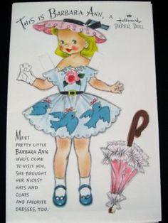Vtg 1960 39 S Hallmark Valentine Paper Doll Card Mary Pat 04