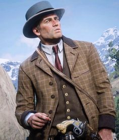 Arthur Morgan as Cole Phelps Wild West Games, Red Dead Redemption 1, Read Dead, Rdr 2, God Of War, Hush Hush, Cyberpunk, Game Art, Character Inspiration