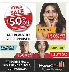 Upto 50% off in Hypercity at Inorbit Vadodara