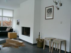 open haard - houtkachel Home Fireplace, Fireplaces, Modern Living, Bad, King, Decoration, Kitchen, House, Home Decor