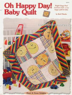 Oh Happy Day Baby Quilt  Creative Scrap Quilt Pattern Leaflet Instructions #OxmoorHousePatterns