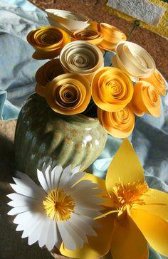 adorable paper flower center pieces
