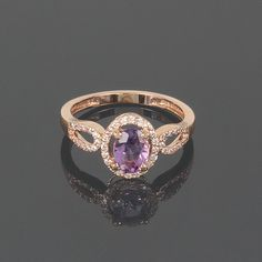 Anillo de amatista oro anillo amatista Birthstone anillo Senior Rings, School Rings, Purple Stone Rings, Amethyst, Sapphire, Promise Rings For Her, Ring Tattoos, Ring Necklace, Bling Bling