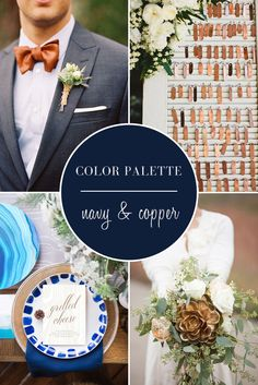 Wedding Color Palette | Navy and Copper with TahoeUnveiled.com