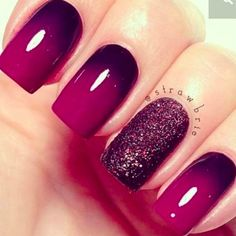 Nail art is a very popular trend these days and every woman you meet seems to have beautiful nails. It used to be that women would just go get a manicure or pedicure to get their nails trimmed and shaped with just a few coats of plain nail polish. Fancy Nails, Love Nails, How To Do Nails, My Nails, Plum Nails, Burgundy Nails, Polish Nails, Nail Polishes, Summer Nail Polish