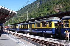 "Berner Oberland-Bahnen AG (BOB), ABeh 4/4 I 305 ""Gündlischwand"", Interlaken Ost (BE) Swiss Railways, Bob, Public Transport, Switzerland, Planes, Trains, Transportation, Airplanes, Bob Cuts"