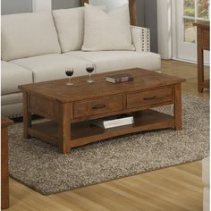 Three Posts Soham Coffee Table Color: Antique Black and Honey Tobacco Ikea Coffee Table, Coffee Table Wayfair, Lift Top Coffee Table, Coffee Table With Storage, Coffee Table Design, Plywood Furniture, Table Color, Coffee Table Inspiration, Tufted Storage Ottoman