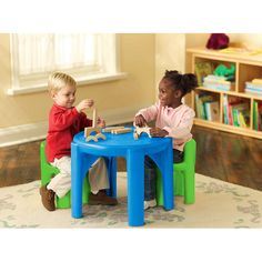 great for playroom, and doing crafts/coloring. Little Tikes Table and Chair Set