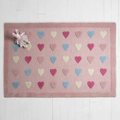Our Hearts Rug matches perfectly with our Princess & the Pea bedroom