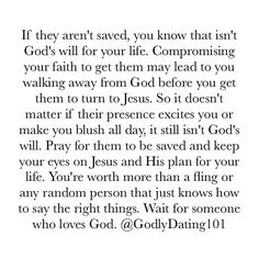 "3,639 Likes, 58 Comments - Godly Dating 101 (@godlydating101) on Instagram: ""Marrying an unbeliever isn't a wise decision. Please let God work on them before you go planning a…"""