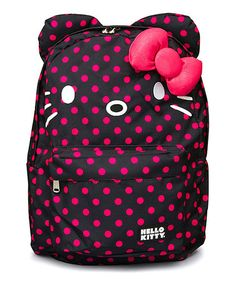 Pink & Black Hello Kitty Polka Dot Backpack $24.99