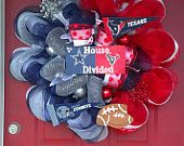 Houston Texans Deco Mesh Wreath. $100.00, via Etsy.