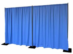 A simple pipe and drape Quick Backdrop Kit with black powder-coat.