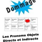 French Speaking Activity with Dir. and Indir. Obj. Pronouns (Dommage)