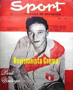 #LoloFernández ídolo máximo de #Universitario en la portada de la revista Sport (N°21, año 1945)...