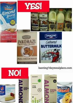 Banting Diet, Banting Recipes, Healthy Recipes, Healthy Food, Almond Breeze, 7 Day Meal Plan, Grocery Lists, Free Food, Meal Planning