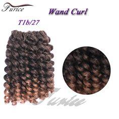 Wand Curl Crochet Hair Extensions Ombre Kinky Twist Hair Crotchet Braids Synthetic Crochet Braids Hair Extensions T1b/27,t1b/30