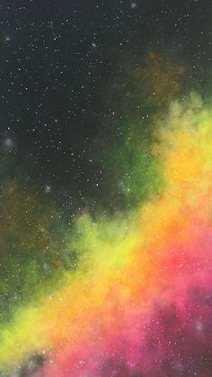 Watercolor Nebula using Neons