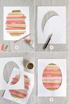 DIY: Free printable Easter Egg art template