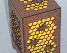 Unique box featuring an intricate honeycomb