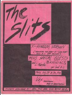 The Slits, Brainiacs @ the VEX Club in East LA. 1980