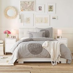 Not what I would typically do, but there is something really lovely about this bedroom!