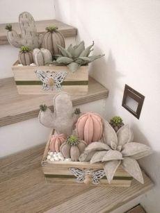 Felt Diy, Felt Crafts, Fabric Crafts, Sewing Crafts, Diy And Crafts, Crafts For Kids, Cactus Craft, Cactus Decor, Cactus Cactus