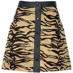 Adam Lippes Tiger Jacquard a-Line Mini Skirt (277.450 HUF) ❤ liked on Polyvore featuring skirts, mini skirts, mini skirt, short a line skirt, a line mini skirt, adam and jacquard skirts