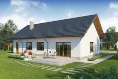 Proiect de casa eleganta doar cu parter Shed, Backyard, Outdoor Structures, Dining, Interior Design, Outdoor Decor, Home Decor, Polish, Houses