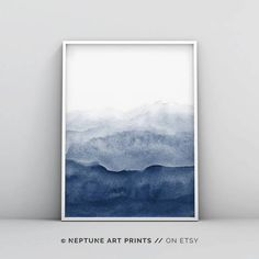 Art Mural Vert, Art Vert, Grand Art Mural, Abstract Watercolor, Abstract Wall Art, Watercolor Paintings, Blue Abstract, Ink Painting, Abstract Paintings