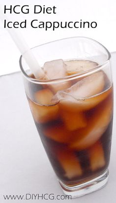 HCG RECIPE ALERT! Iced Cappuccino for Phase 2 of the HCG Diet.