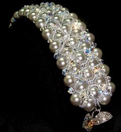 Celastrina Platinum South Sea Shell Pearl Bracelet