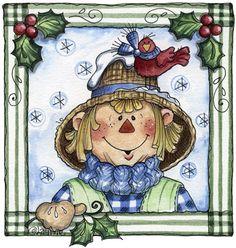 blog08082011 clipart imagem decoupage Winter Scarecrow01 (2)
