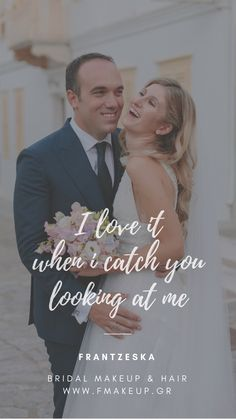 I love it when I catch you looking at me Scrunched Hair, Look At Me, Bridal Makeup, Groom, Hairstyle, Bride, Greek Islands, My Love, Artist