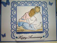 My friends 1st Anniversary Card