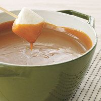 Peanut-Butterscotch Fondue!  I have used this recipe many times...wonderful!!