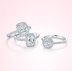 These diamond rings are stunning! The Pandora ones in this shape look very similar, and are probably a fraction of the price, they're not natural diamond though...
