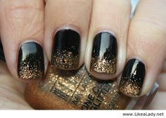 Black and gold gradient