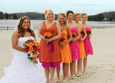 Maybe something like this? I love this mismatch orange and pink!