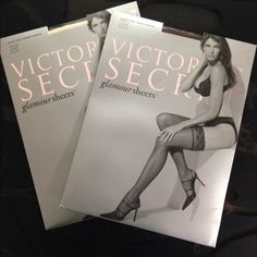 """Victorias""""s Secret Stockings Bundle in Size Large. Victoria""""s Secret Glamour Sheers In Cream and Cocoa color. Victoria's Secret Intimates & Sleepwear Panties"""