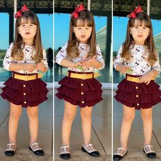 Baby Girl Fall Outfits, Mommy And Me Outfits, Cute Outfits For Kids, Girl Outfits, Little Girl Fashion, Kids Fashion, Cute Dresses, Girls Dresses, Baby Girl Dress Patterns