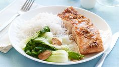 "Al Roker's Grilled Ginger Salmon with Maple-Ginger Glaze: ""When it comes to cooking, I'm pretty much a traditionalist. I've been making this dish for at least 10 years. Salmon's a flavorful fish, and it stands up well to other flavors. So if you put a little maple on it, plus salt and pepper, you get a sweet and savory dish. And it's family-friendly—kids like it. Sometimes, my children help me cook—even if it's just stirring something or putting a dish in the oven. But if a recipe requires a lot of chopping, or if I really have to get stuff done in a certain amount of time, then I let them do other chores, like ­setting the table. """