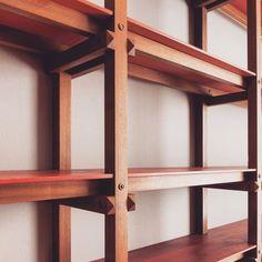 Stunning Wall Unit by Carlo Mollino – 1964 Zen Furniture, Shelf Furniture, Refurbished Furniture, Wooden Furniture, Furniture Projects, Furniture Design, Bookcase Shelves, Shelving, Oak Shelves
