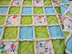 My Patchwork Quilt: ANOTHER RAG QUILT FOR PROJECT LINUS