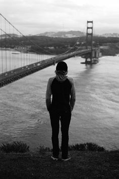 Vans Skate's Curren Caples looking out over the Golden Gate Bridge. Photo: Arto Saari