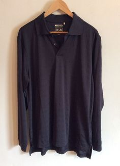 ADIDAS CLIMA COOL POLO Shirt Size M Gray Long Sleeve Casual Polyester Sweater  #Adidas #PoloRugby